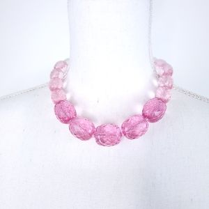 Pink Ombre Fashion Statement Necklace
